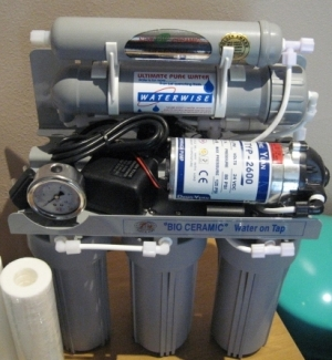 Grey Bio Ceramic RO system with booster pump